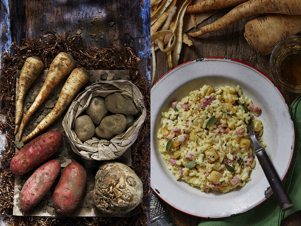 Root vegetable feature, Easy Food, February 2015