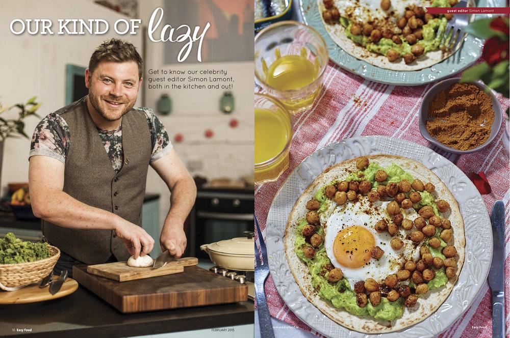 Simon Lamont feature, Easy Food, February, 2015