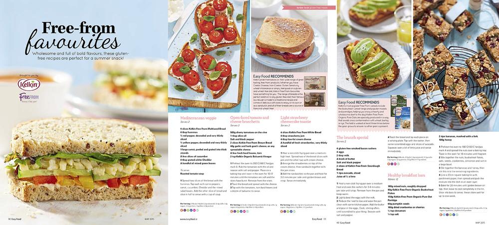 Kelkin sandwiches feature, Easy Food, April, 2015