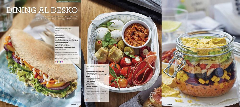 Dining al desco, Easy Food, March, 2015