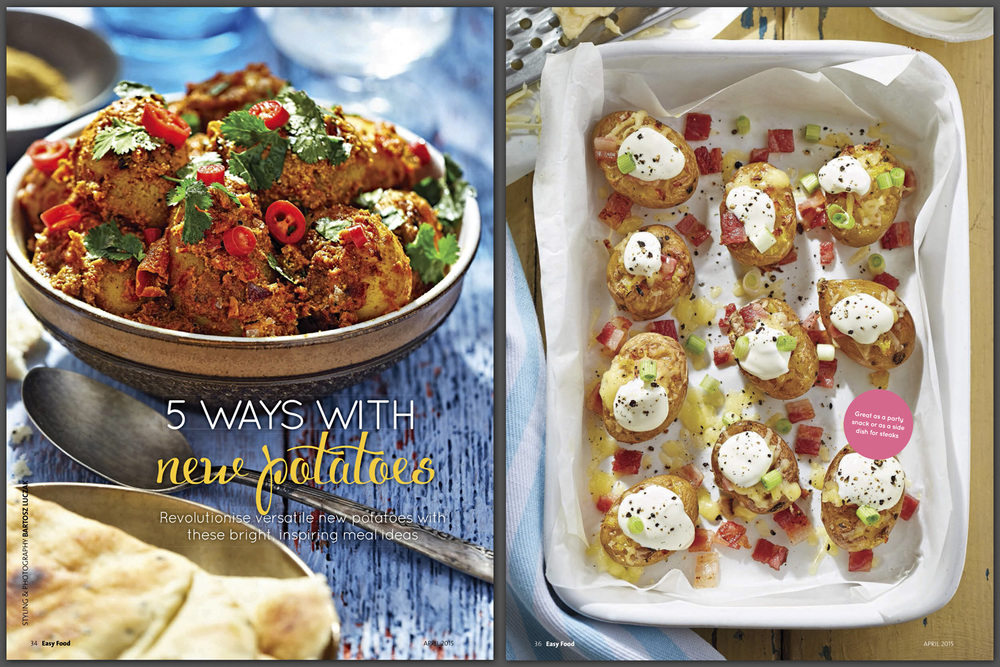 New potatoes feature, Easy Food, April, 2015