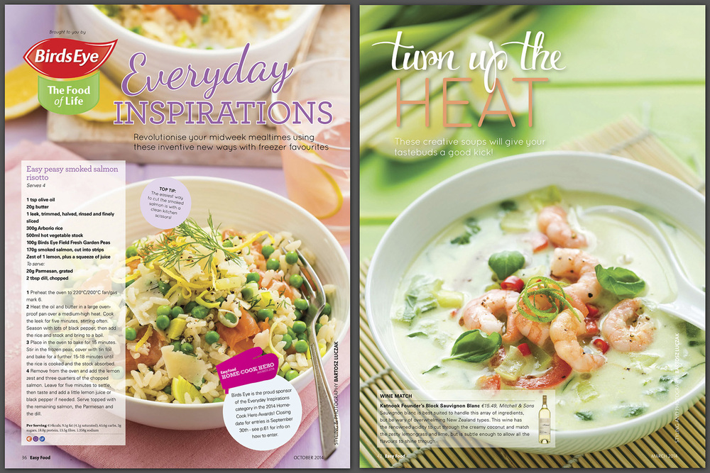 Easy Food Soups and Bird's Eye feature, 2015