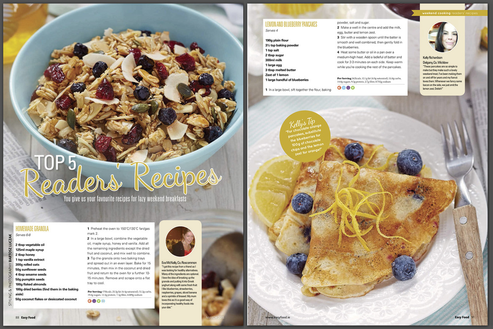Reader's recipes, Easy Food, March, 2015