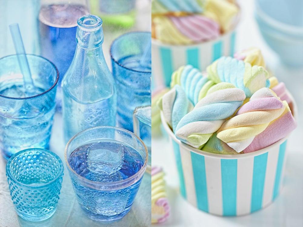 Blue drinks & marshmallows, self-assigned, Dublin 2015