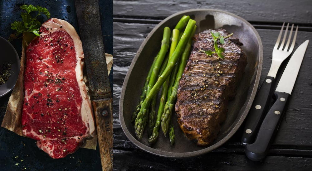 Raw and well done with asparagus, yes we are talking Steak! Dublin, 2015