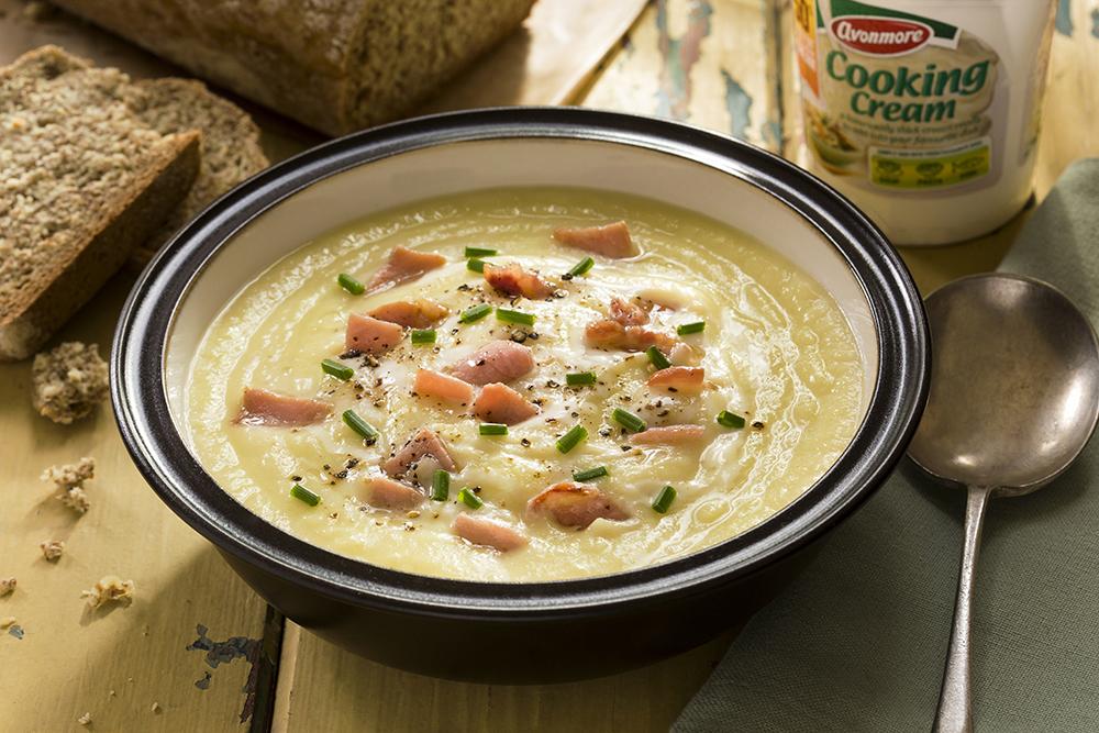 Celeriac cream soup shot for Avonmore, Dublin 2014