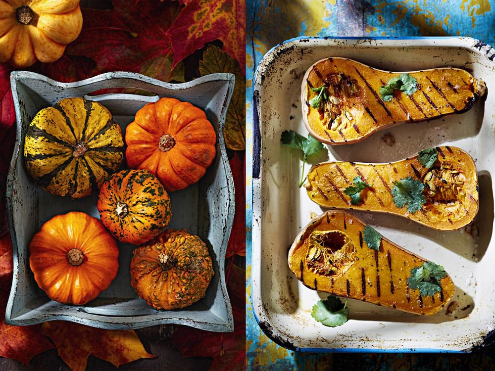 Autumn pumpkins and roasted butternut, Dublin 2015
