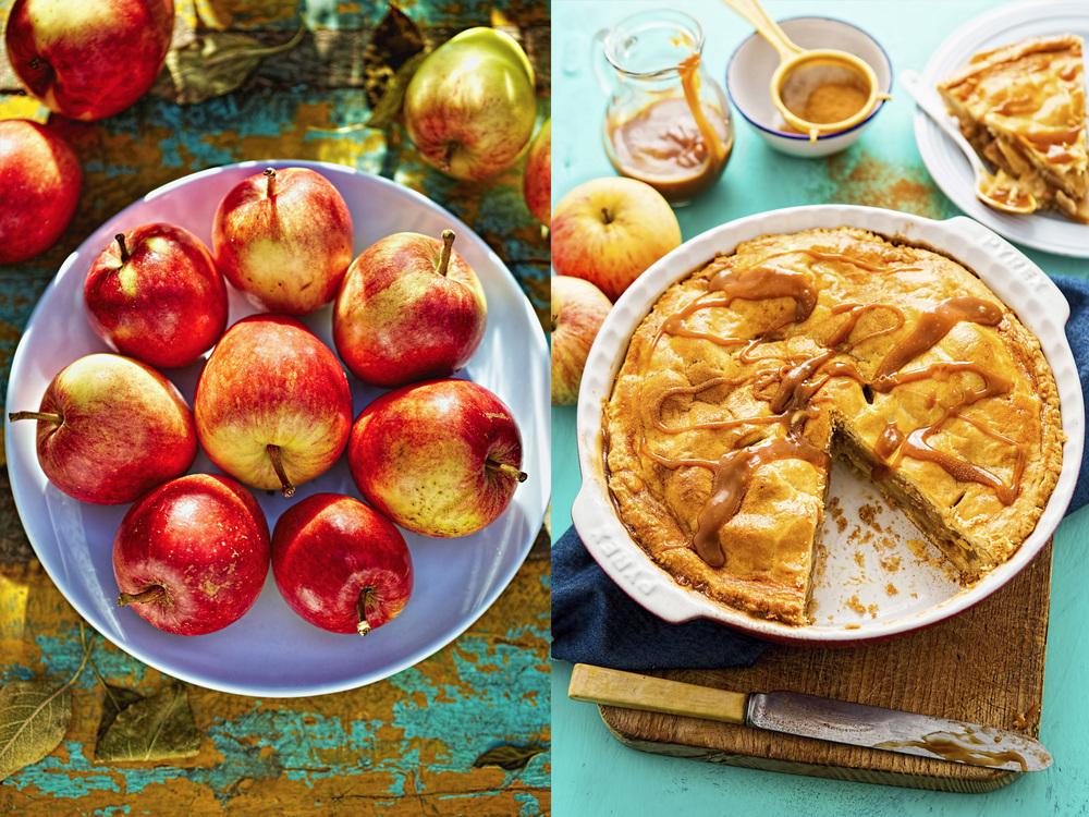 Appleas and Apple caramel tart, 2015, Dublin