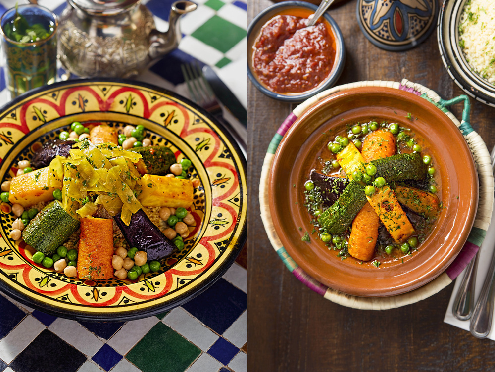 Tagine and couscous with vegetables, El Bahia, Dublin 2015