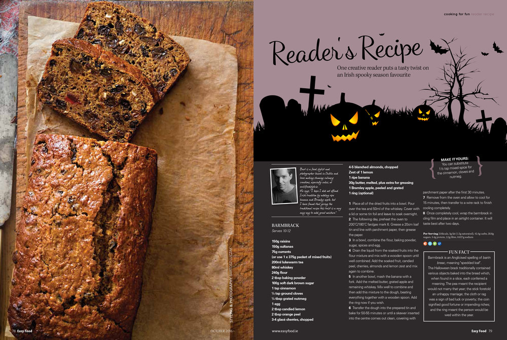 Barmbrack, Halloween feature, Easy Food, October, 2016