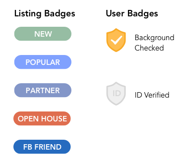 Badge logic: Listing vs. User distinction