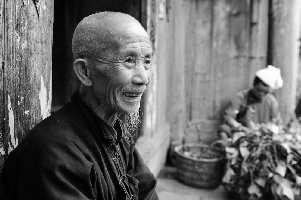Yang, aged 81, has lived all his life in his 200 year old home.