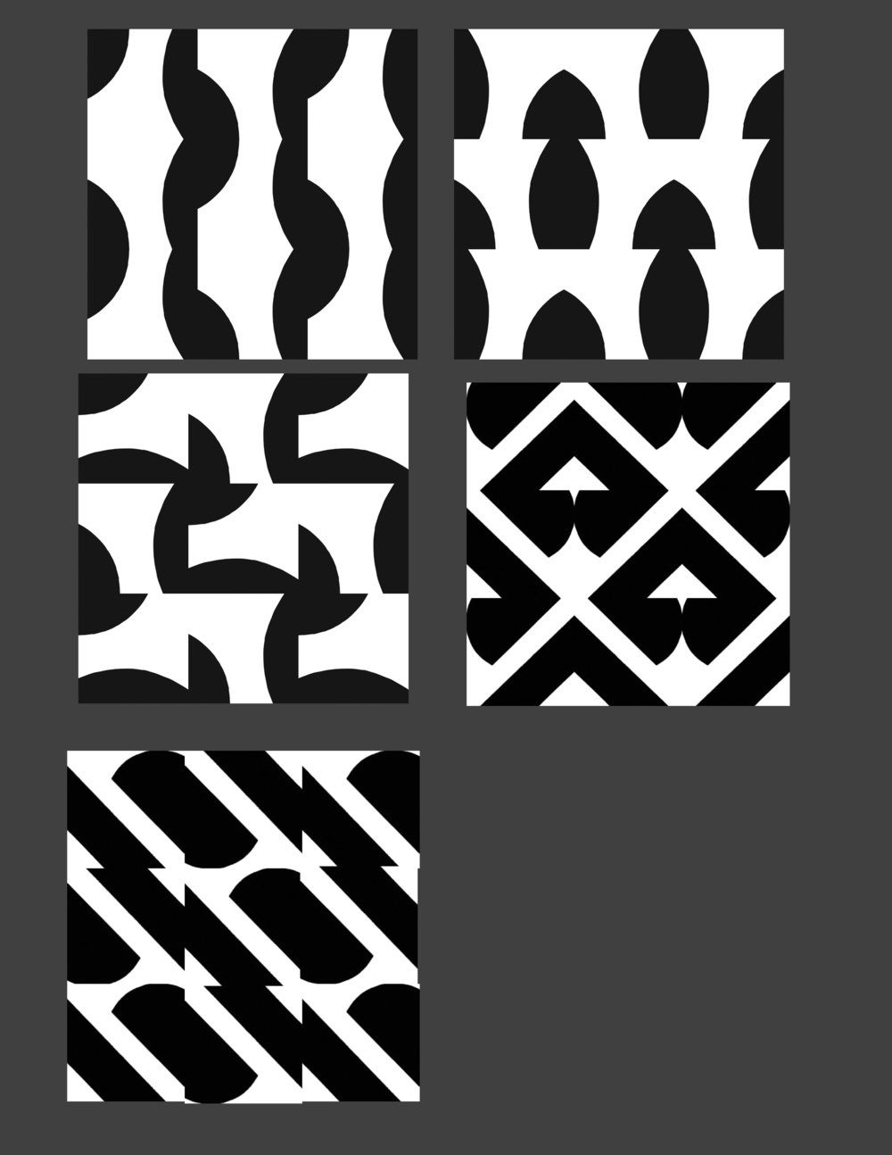 Creating patterns from different cropped parts of the symbol