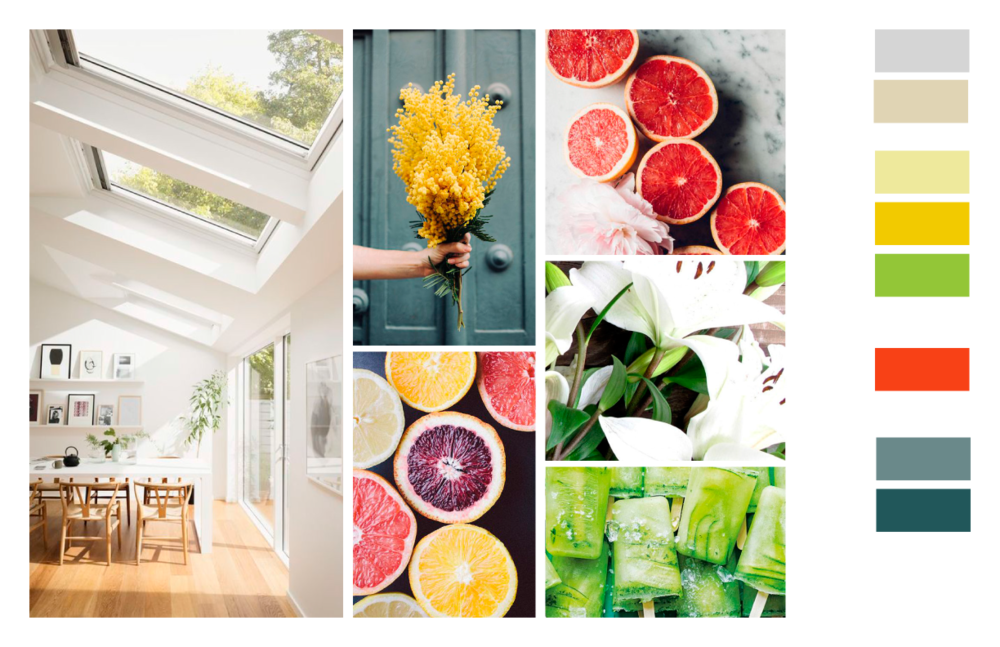 Chosen Colour Inspiration Board: Inviting but Professional