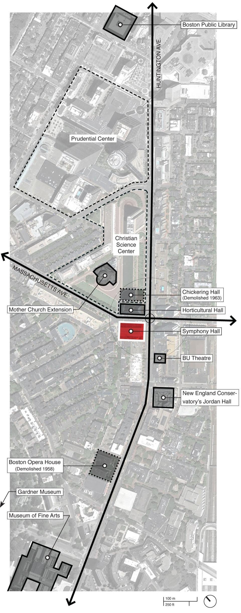 Site Diagram Symphony Hall Plaza