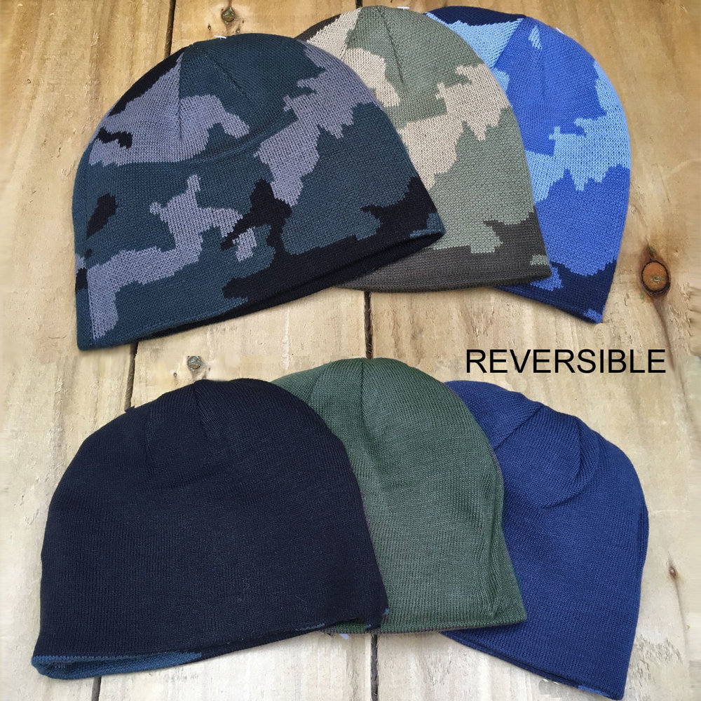Mens Reversible Camouflage Beanie — The Mud Life 0478dcfe5e9
