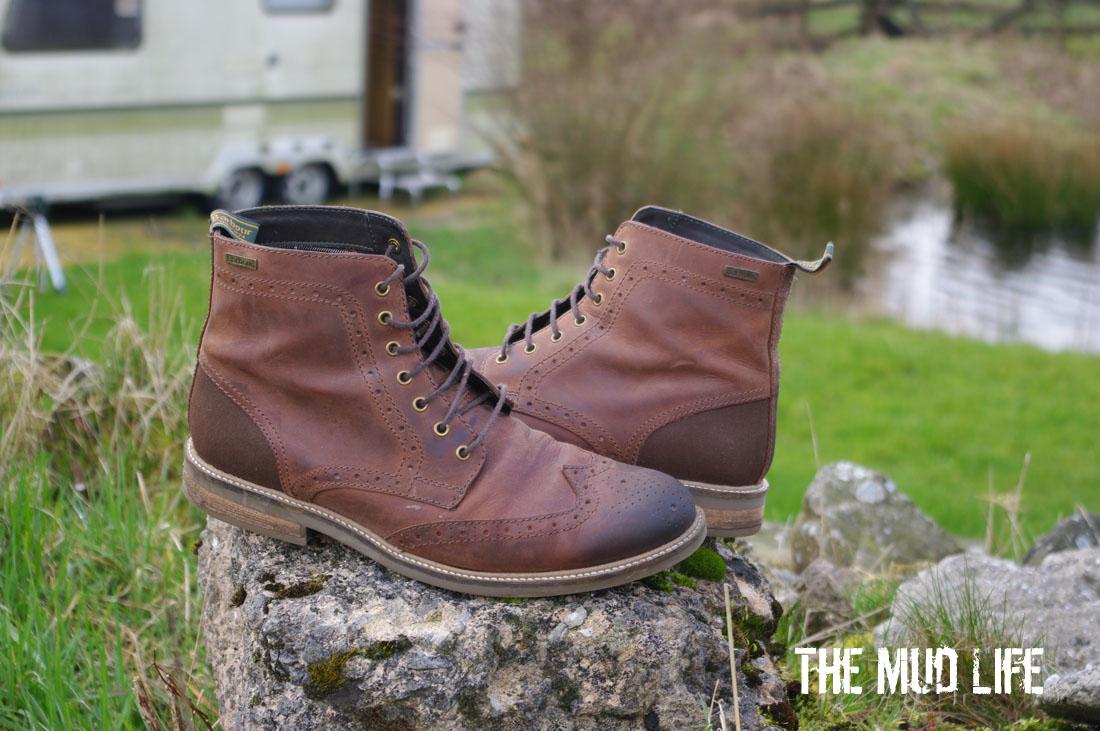 barbour mens black belsay brogue boots