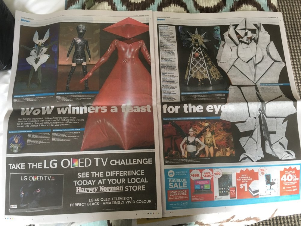Morning paper after the award show