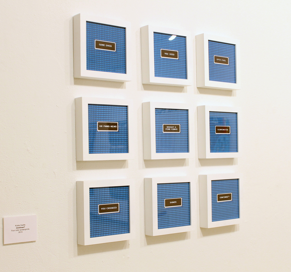 """Continue? (Megaman) --screenprint on French Paper. Each 8"""" x 8"""""""