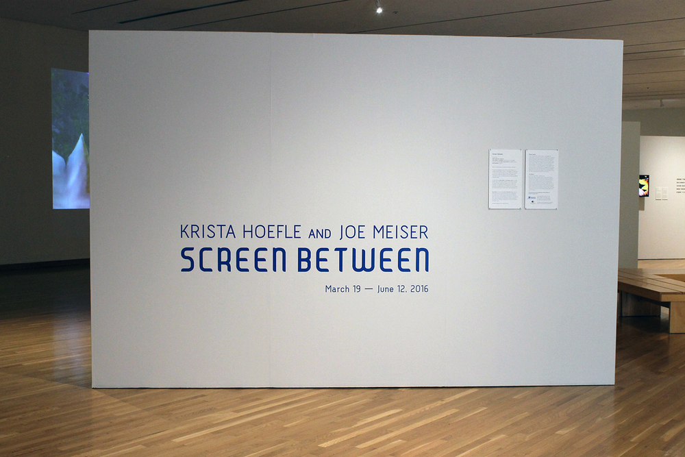 Screen Between exhibition at South Bend Museum of Art