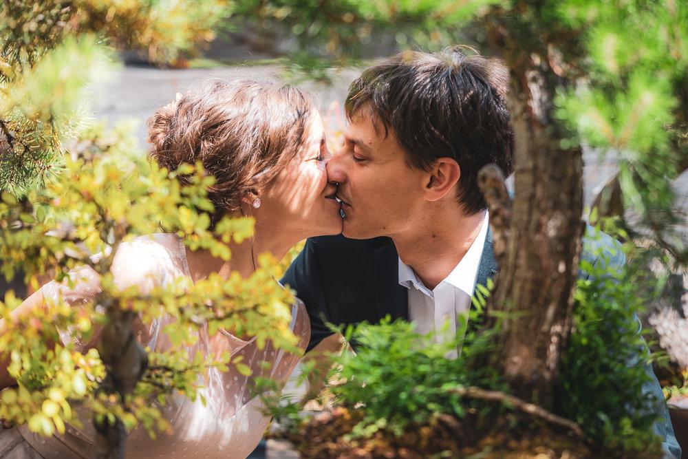 Hochzeit im Bonsaigarten - Marie und Manuel - Minoru Bonsai