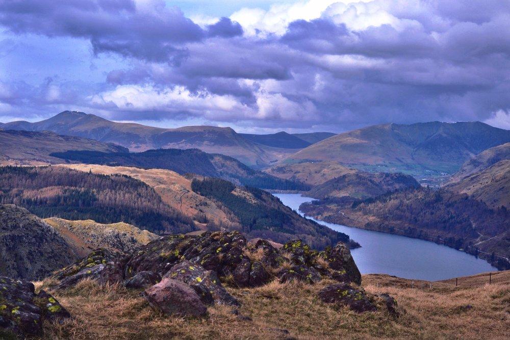 View to Thurlstone, Lake District, UK. April 2016