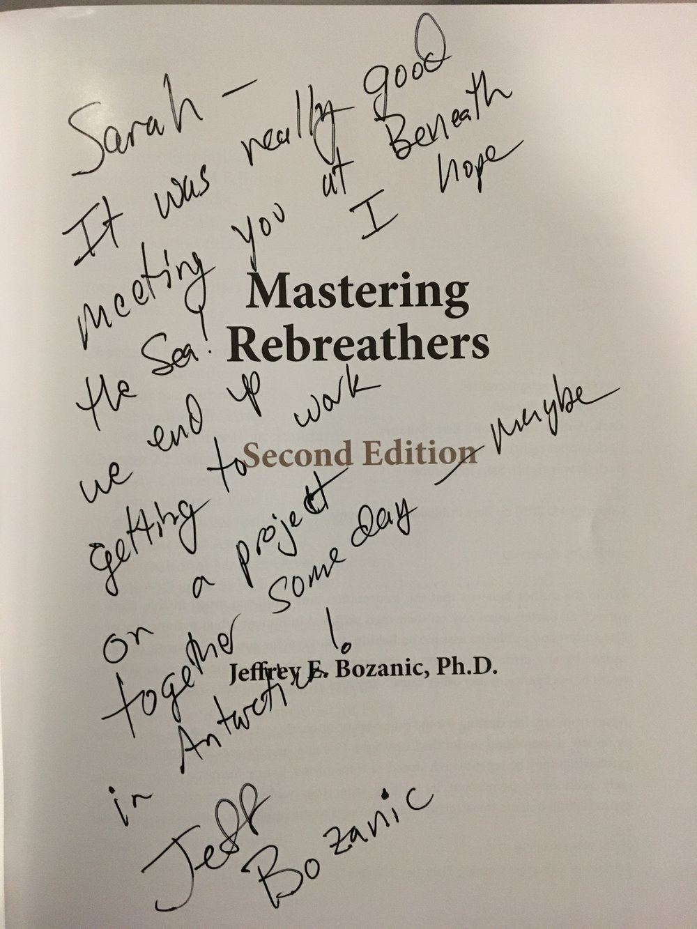 Dr Jeff Bozanic - Mastering Rebreathers 2nd Edition - Great to speak to him about scientific diving in Antarctica!