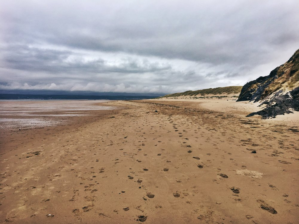Beach walk to Rhosilli