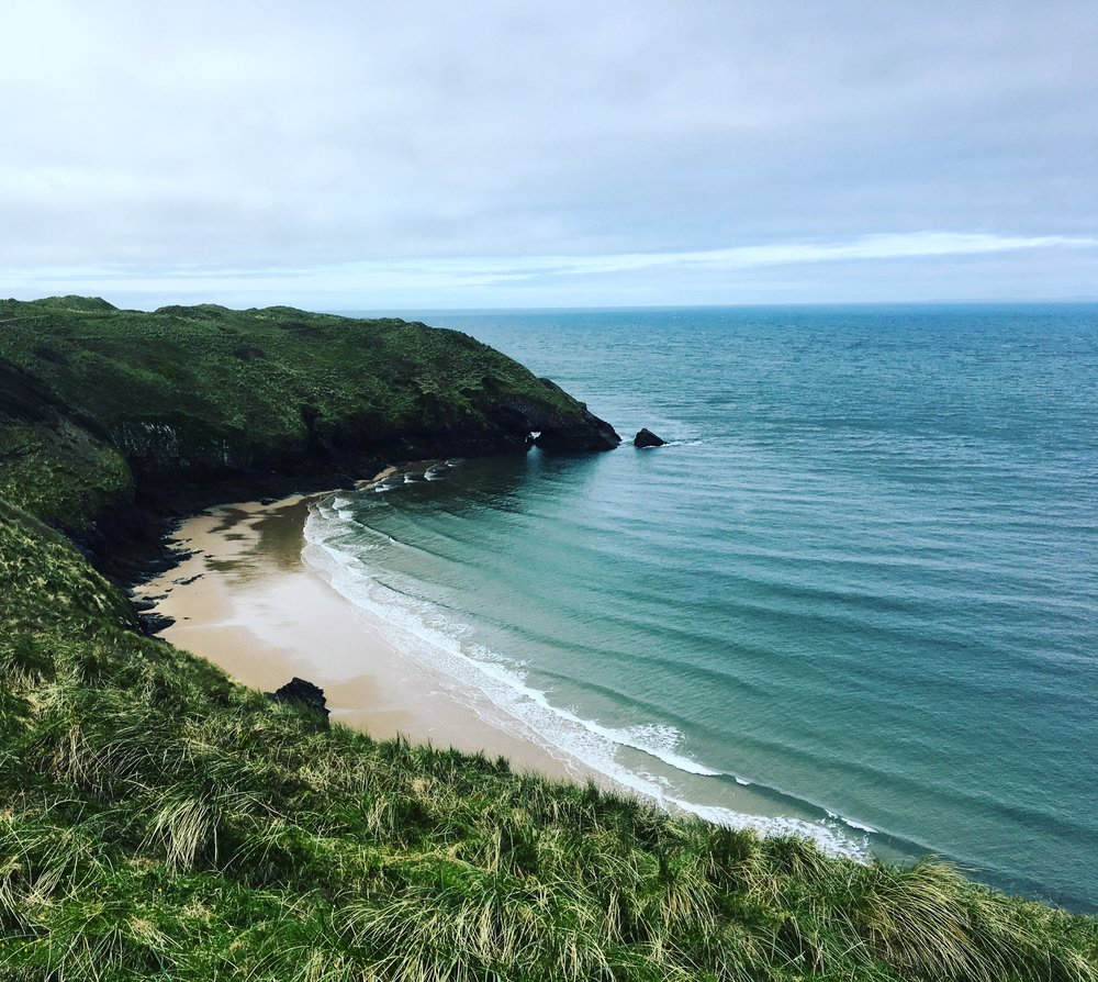 Beach bay on way to Whiteford lighthouse