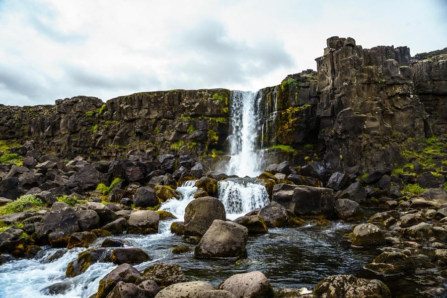Öxárfoss waterfall