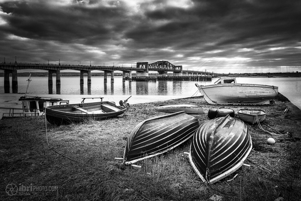 One from the archives. Fresh edit of some boats down near the Kincardine Bridge.