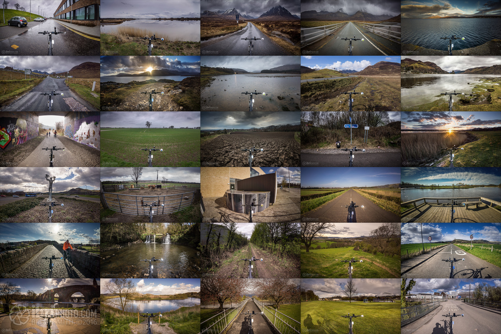 Been some great places with the bike over the course of the month. All 30 days captured from bike's point of view.