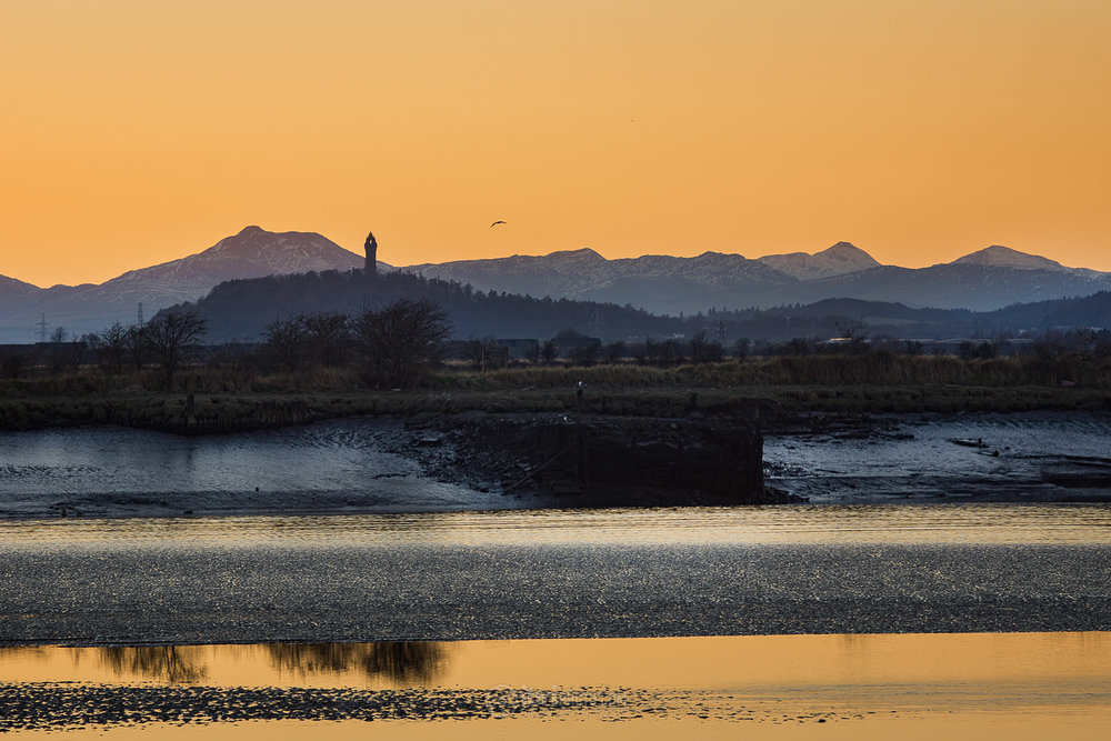 Ben Ledi and The National Wallace Monument from South Alloa, Stirlingshire. Sony Nex 7 - Miranda 24mm f2.8 (legacy lens) - 1/640 - f5.6 - ISO400