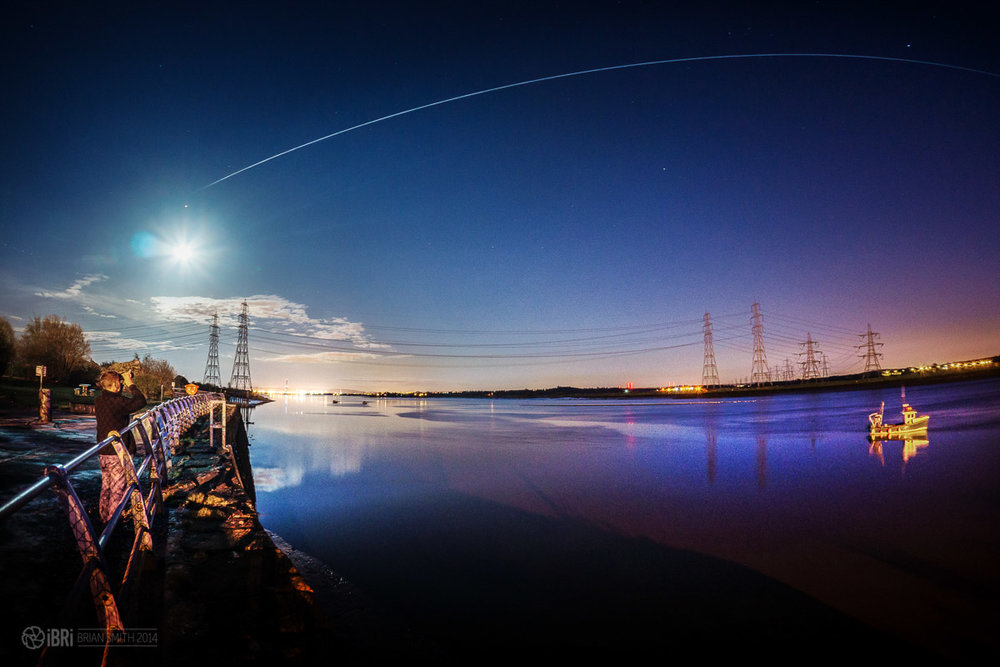A previous ISS pass over the River Forth at Alloa.