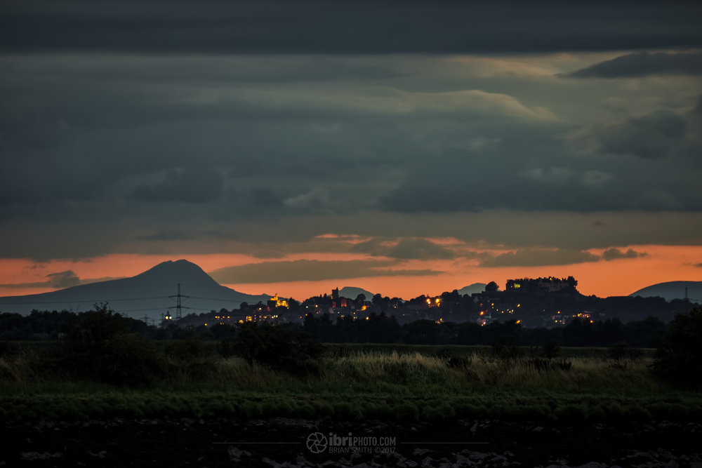 The City skyline and Castle at full zoom - 210mm [315mm] and  Scotland's most southerly 'Munro', Ben Lomond.