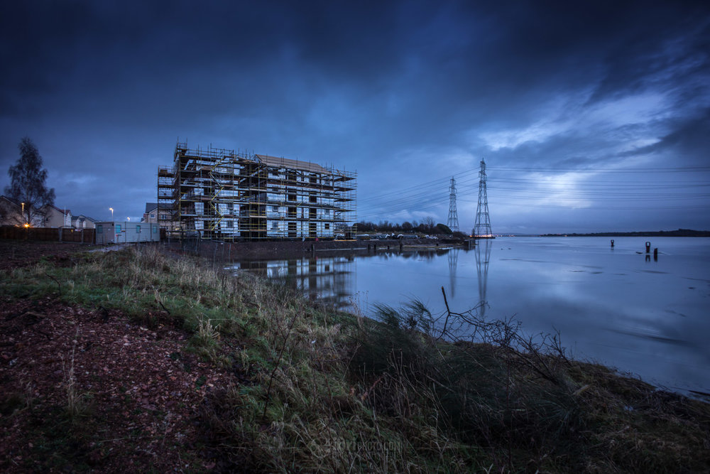 A combination of the full moon just passed and lots of water in the Forth caused a fair bit of flooding down at The Shore this afternoon (Jan 3rd 2018). Not sure I'd be too keen on one of those ground floor flats just being built...