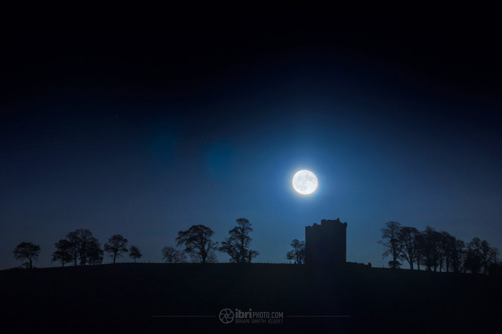 Guy Fawkes night - rising over Clackmannan Tower