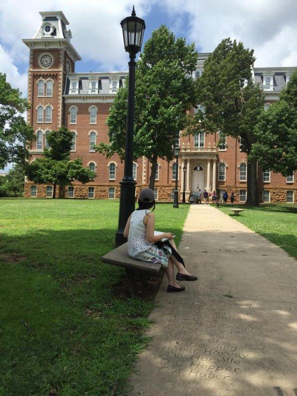 Site visit at University of Arkansas, Fayetteville, Arkansas