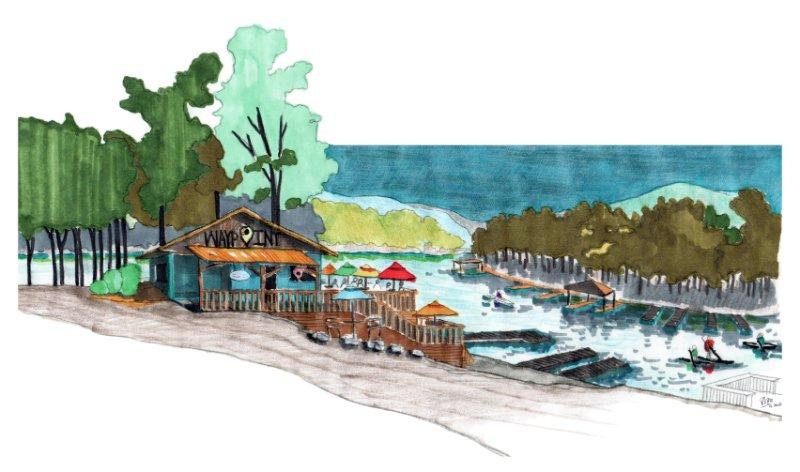 Waypoint at DeSoto Marina at Hot Springs Village, Arkansas (Variation 2: color-oriented vision)