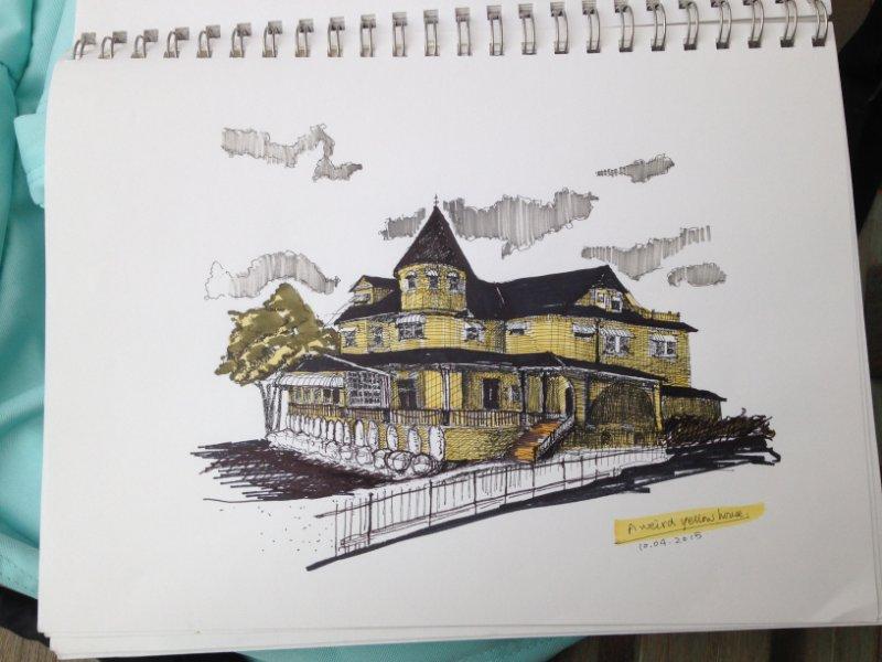 House portrait, a sketch