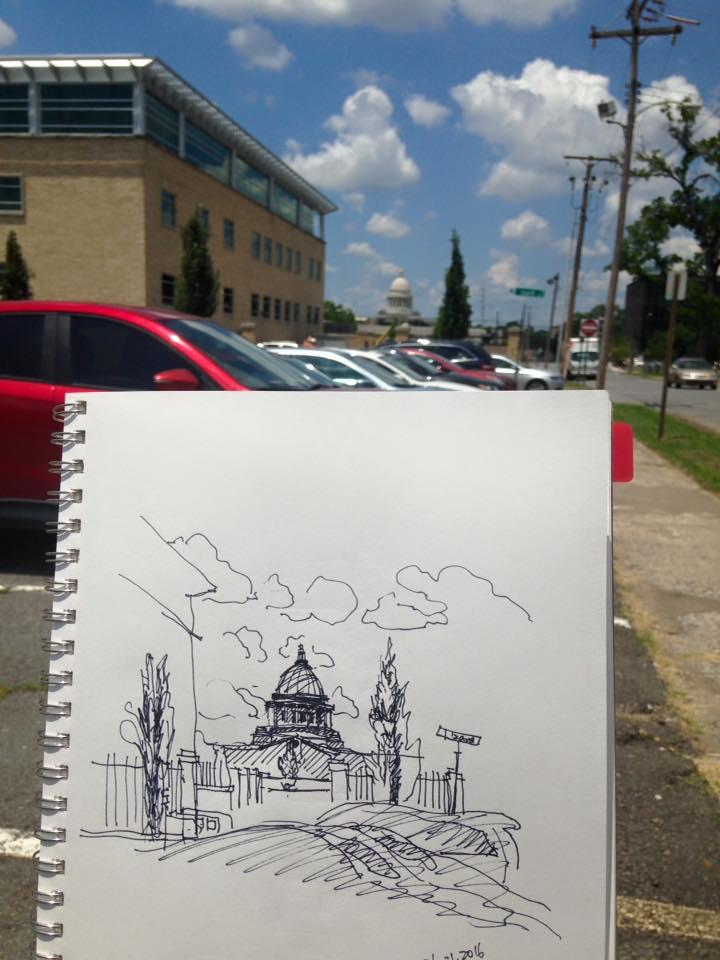 Arkansas Capitol Afar, 06/21/2016
