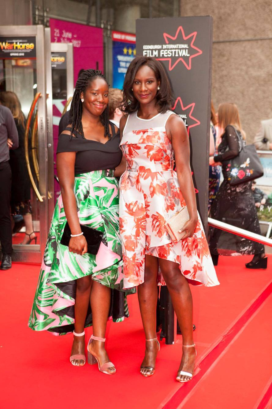 (L-R) Morayo Akandé & Moyo Akandé on the Red Carpet for the Edinburgh International Film Festival 2017 Opening Gala.