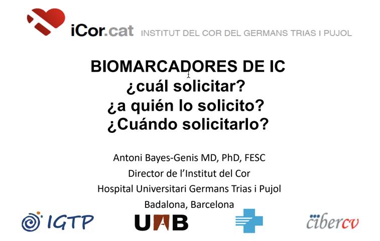 BIOMARCADORES DE INSUFICIENCIA CARDIACA. DR BAYÉS GENIS