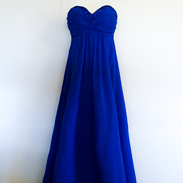 Dress - Royal Blue Chiffon