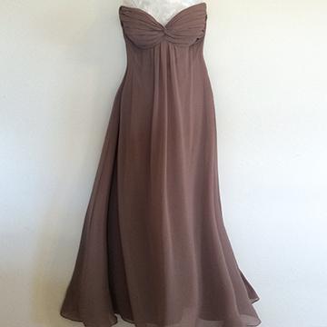 Dress - Taupe Chiffon