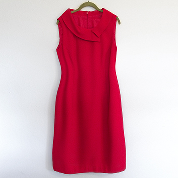 Dress - Red Crepe