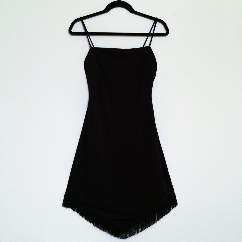 Dress - Black Fringe