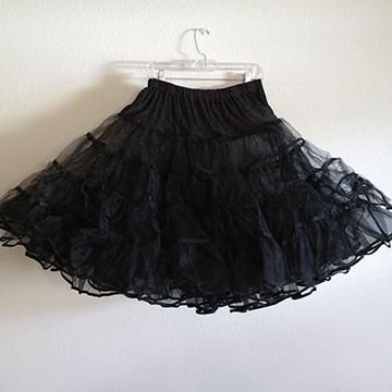 Skirt - Black Petticoat