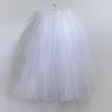 Skirt - White Tulle