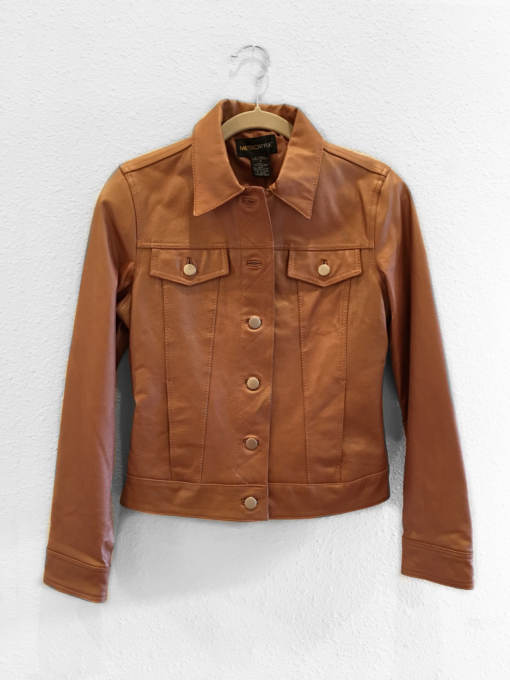 Jacket - Metallic Bronze Leather
